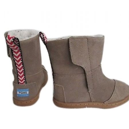 80% Off Toms Tiny Nepal Suede Boots - Size: 22 - Sand - Kids (Only $20 instead of $100)