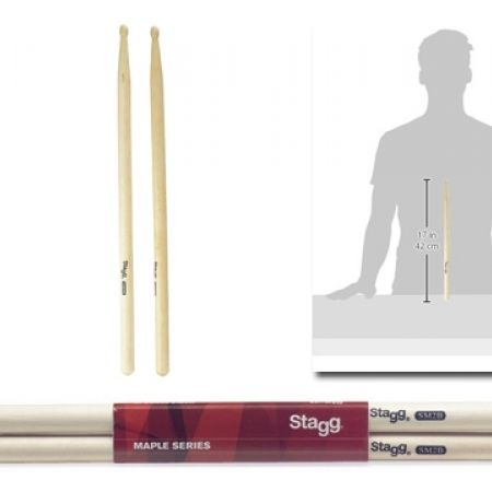 50% Off Stagg SM2B Wooden Maple Drum Sticks (Only $5 instead of $10)