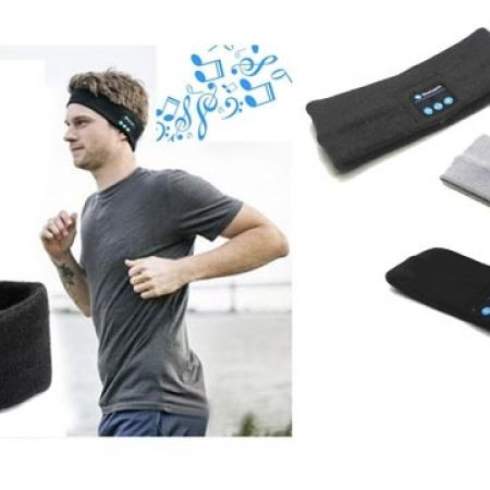 35% Off Bluetooth Sport Wireless Sweatband With Wireless Headphones Speakers Microphone - Black (Only $13 instead of $20)