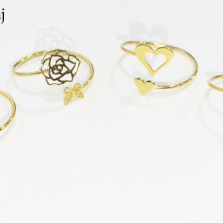 12% Off 18K Gold Flower With Butterfly Resizable Ring (Only $53 instead of $60)