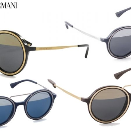 130cf0373d27 50% Off Emporio Armani Round Sunglasses EA 4062 5452 1X Blue Silver Frame  With Blue Silver Mirror Fade - Unisex (Only  122.50 instead of  245) -  Makhsoom