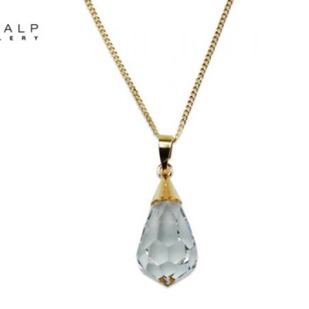 50% Off CrystalP Discontinued Gold Alloy Drop Pendant (Only $25 instead of $50)