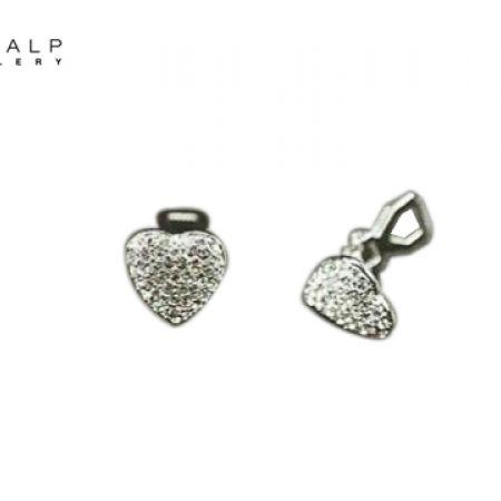 49% Off CrystalP Rhodium Plain Heart Earrings (Only $36 instead of $71)