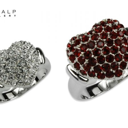 50% Off CrystalP Rhodium Darling Ring - Size:18 - Burgundy (Only $39 instead of $78)
