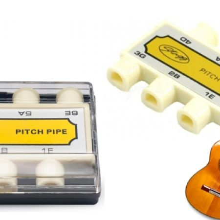 50% Off Stagg Plastic Guitar Pitch Pipe with Case - White (Only $2 instead of $4)