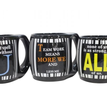 25% Off Printed Quotation Stoneware Mug - None Of Us Is As Strong As All Of Us (Only $4.50 instead of $6)