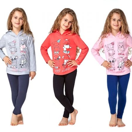 43% Off RolyPoly Keep Warm Spinning Pyjamas - Age: 5 - Black/Salmon - Girls (Only $17 instead of $30)
