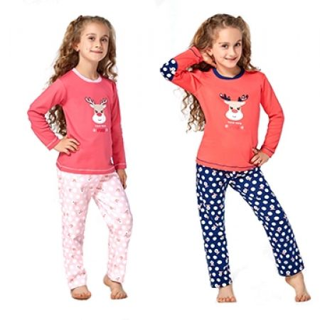 43% Off RolyPoly Interlok Deer Pyjamas - Age: 1 - Pink/Salmon - Girls (Only $17 instead of $30)