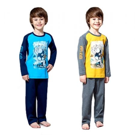 52% Off Roly Poly Interlok Rhinoceros Pyjamas - Age: 1 - Blue/Navy - Boys (Only $14 instead of $29)