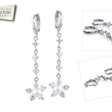 50% Off Swarovski Elements Zircon Simulated Pearl Drop Earrings - Women (Only $19 instead of $38)