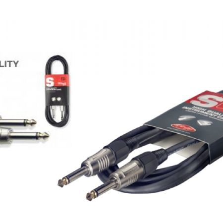 50% Off Stagg Pro-Series Jack to Jack Instrument Guitar Cable Heavy-Duty Connectors S-Series - 1.5 m - Black (Only $5 instead of $10)