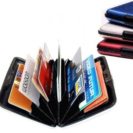 38% Off Safe Guard Aluminum Blocking Credit Card Case Wallet - XL - Purlple (Only $7.50 instead of $12)