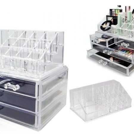33% Off Design Acrylic Jewelry and Cosmetic Storage Display Box Set (Only $18 instead of $27)