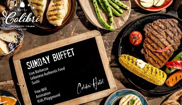 33% Off Sunday Buffet With Regular Bar from Colibri, Baabdat (Only $30 instead of $45)