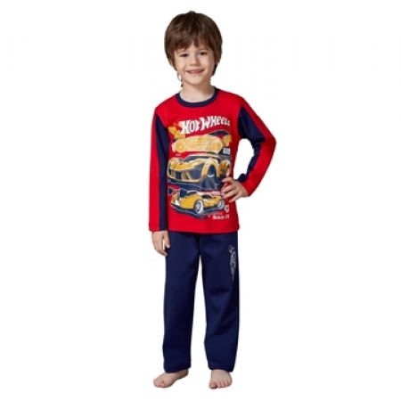 50% Off RolyPoly Lincensed Pigment Hot Wheels Pajamas - Age: 3 - Red/Navy Blue - Boys (Only $19 instead of $38)