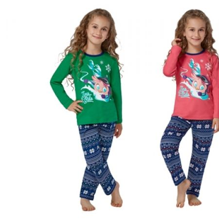 50% Off RolyPoly Lincensed Pigment Angry Birds Stella Pajamas - Age: 3 - Salmon/Navy Blue - Girls (Only $19 instead of $38)