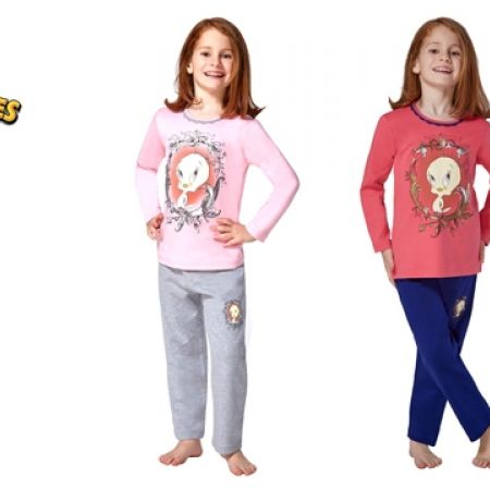 50% Off RolyPoly Lincensed Pigment Tweety Looney Tunes Pajamas - Age: 3 - Salmon/Blue - Girls (Only $19 instead of $38)