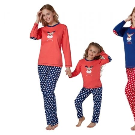 50% Off RolyPoly Interlok Deer Pajamas - Small - Navy Blue/Red - Women (Only $30 instead of $60)