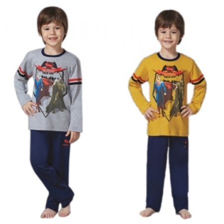 48% Off RolyPoly Lincensed Pigment Batman VS Superman Pajamas - Age: 10 - Grey/Navy Blue - Boys (Only $26 instead of $50)
