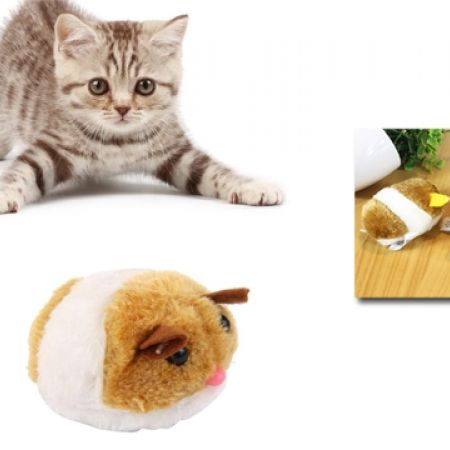 40% Off Lovely Plush Vibration Mouse Toy For Cats - 7cm (Only $3 instead of $5)
