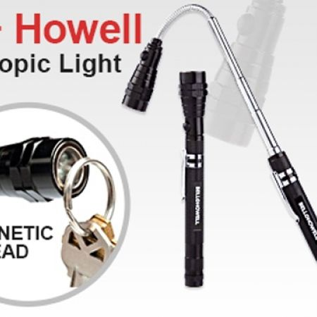 50% Off Bell + Howell Magnetic Telescopic 3 LED Flash Light Flexible Neck - Black (Only $8 instead of $16)