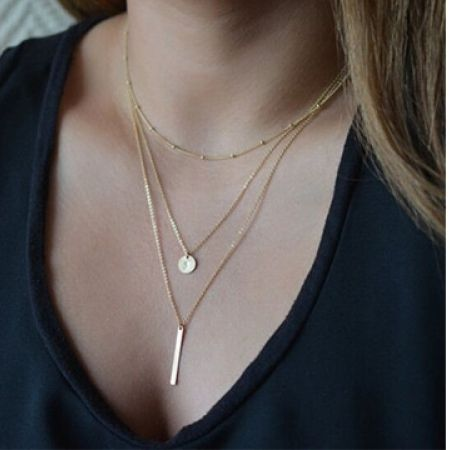 47% Off Multi-Layered Gold Necklace (Only $8 instead of $15)