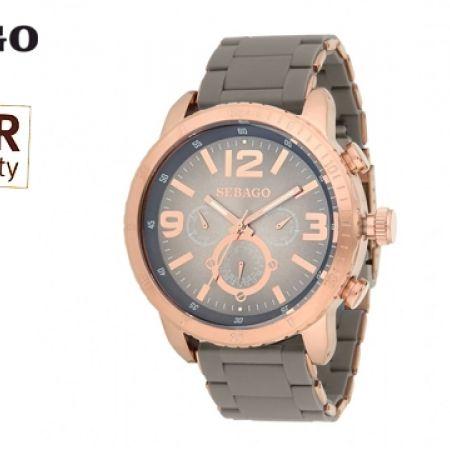 55% Off Sebago Stainless Steel Watch - Bronze/Grey - Men (Only $94 instead of $209)