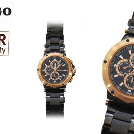 55% Off Sebago Stainless Steel Watch - Black - Men (Only $85 instead of $189)