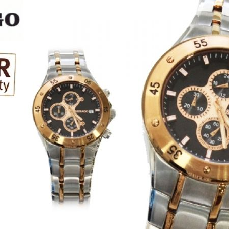 55% Off Sebago Stainless Steel Watch - Silver/Gold - Men (Only $82 instead of $183)