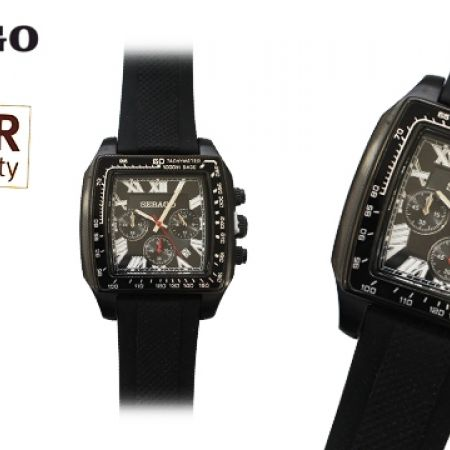 55% Off Sebago Rubber Watch - Black - Men (Only $76 instead of $169)
