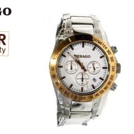 55% Off Sebago Stainless Steel Watch - Silver/Gold - Men (Only $89 instead of $198)