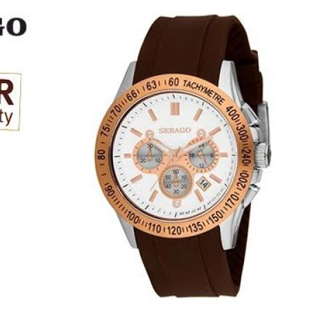 55% Off Sebago Rubber Watch - Brown/Gold - Men (Only $84 instead of $187)