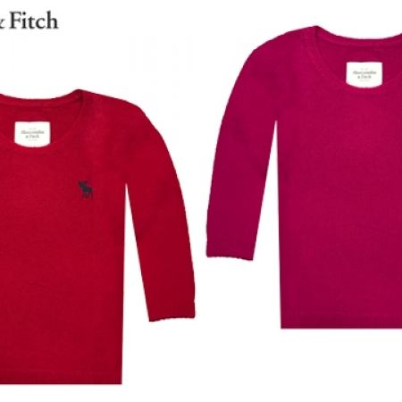 51% Off Abercrombie & Fitch Round Neck Sweater - Red - Large - Women (Only $33 instead of $68)