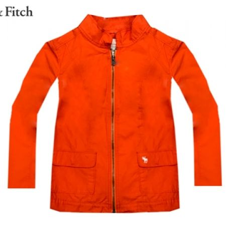 69% Off Abercrombie & Fitch Full Zip Jacket - Orange - Medium - Women (Only $40 instead of $130)