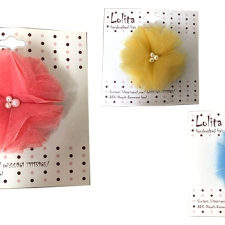 29% Off Lolita Tulle Flower Hair Clip No Slip Barrette For Fine Hair - Coral - Kids (Only $5 instead of $7)