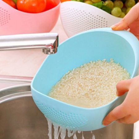 50% Off Multipurpose Plastic Prep Bowl With Integrated Colander - Blue (Only $3.50 instead of $7)
