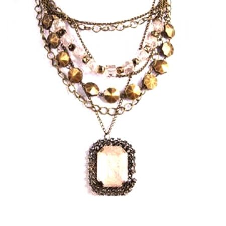 35% Off Antique Bronze Vintage Necklace - Champagne (Only $13 instead of $20)