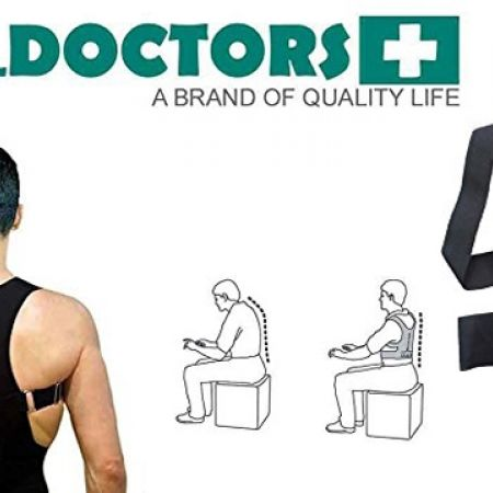 43% Off Real Doctors Neoprene Posture Support Brace - Small - Black (Only $17 instead of $30)