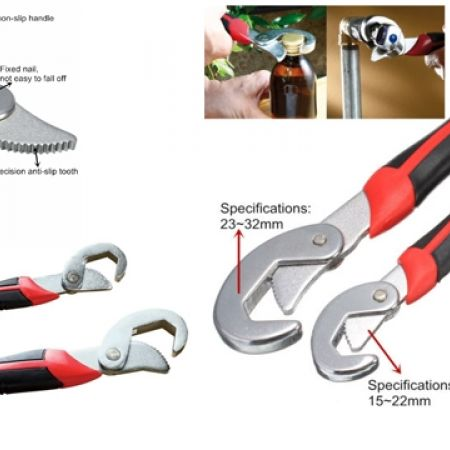 30% Off Snap'n Grip Set Of 2 Multipurpose Universal Wrench - Black/Red (Only $7 instead of $10)