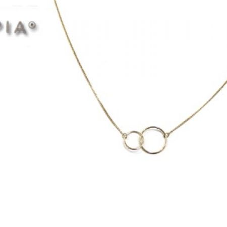 50% Off Opia 2 Circles Gold Plated Long Necklace (Only $10 instead of $20)