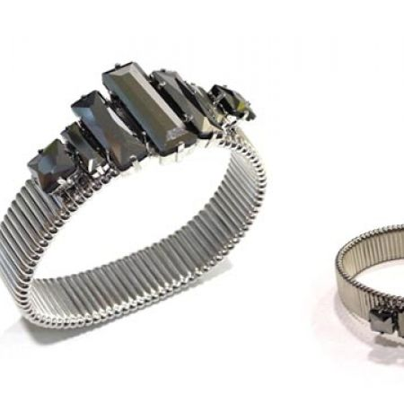 72% Off Jasper Conran Silver Textured Stretch Bracelet - Women (Only $7 instead of $25)