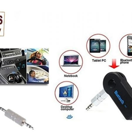 35% Off Universal Wireless Bluetooth Car Kit Handsfree Music Receiver - Black (Only $15 instead of $23)