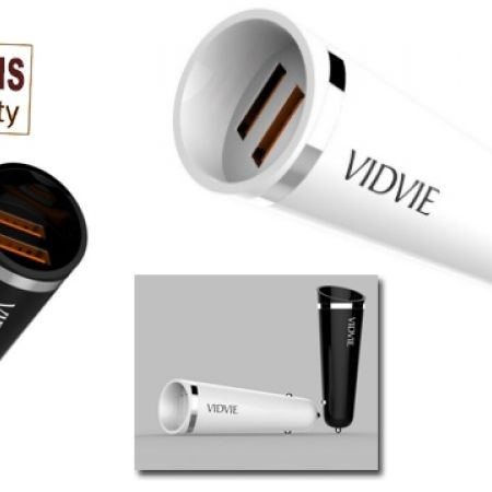 33% Off Vidvie The Torch Fast Car Charger For iPhone - 2.4 A - Black (Only $12 instead of $18)