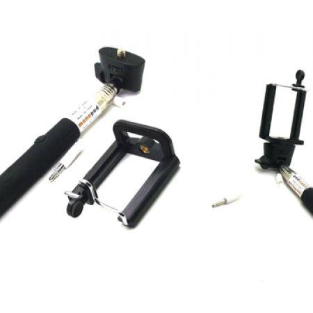 50 off cable take pole black selfie stick only 5 instead of 10 makhsoom. Black Bedroom Furniture Sets. Home Design Ideas