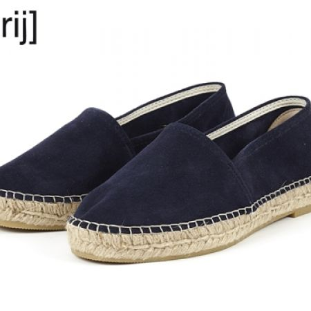 18% Off Espadrij L'originale Classic Marine Suede Leather Espadrilles - Size: 36 - Women (Only $66 instead of $80)