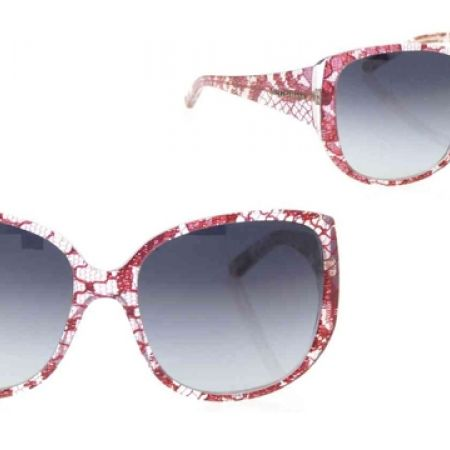 70% Off D&G Sunglasses DG 4116 19038G Red Lace Frame With Grey Gradient Fade - Women (Only $210 instead 700)