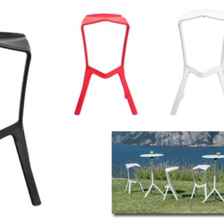 18% Off Simple Plastic Stackable Barstool - Black (Only $155 instead of $190)