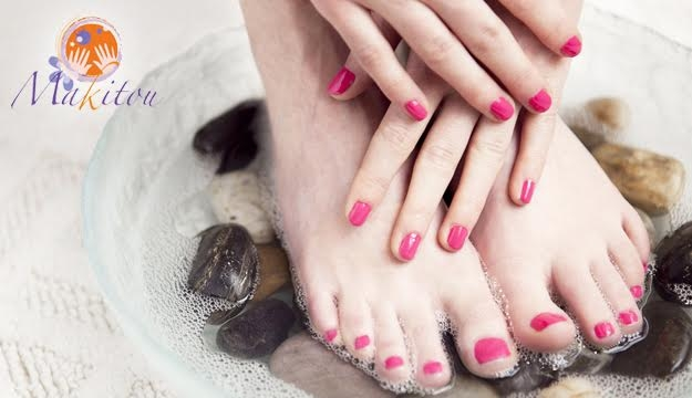 55% Off Deluxe Manicure & Pedicure With Brushing from Makitou Day Spa, Ashrafieh (Only $29 instead of $65)