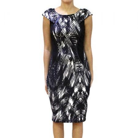 75% Off Lipsy London Black Abstract Bodycon Dress - Size (EU): 38 (Only $30 instead of $120)