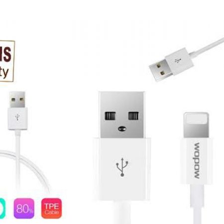 45% Off Wopow White Data Transmit and Charging Cable For iPhone (Only $5.50 instead of $10)